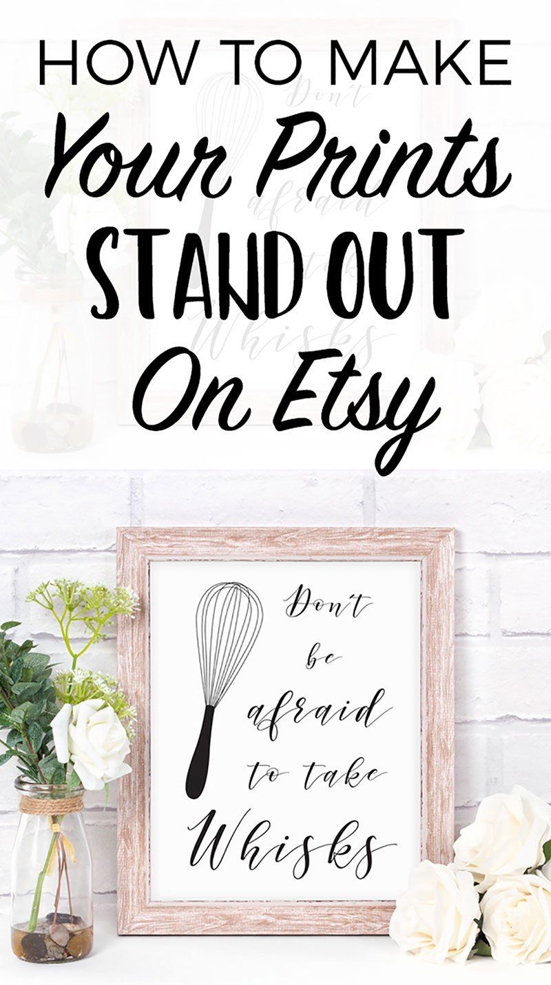 How to make your prints stand out on etsy with images