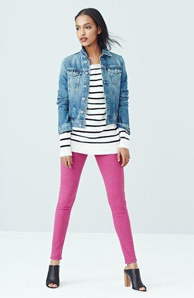 Hudson Jeans 'Krista' Super Skinny Jeans (Bright Hydrangea) | Nordstrom