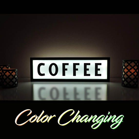 Coffee Sign Illuminated Dreamz Coffee Shop Signs Light Up Signs Business Signs