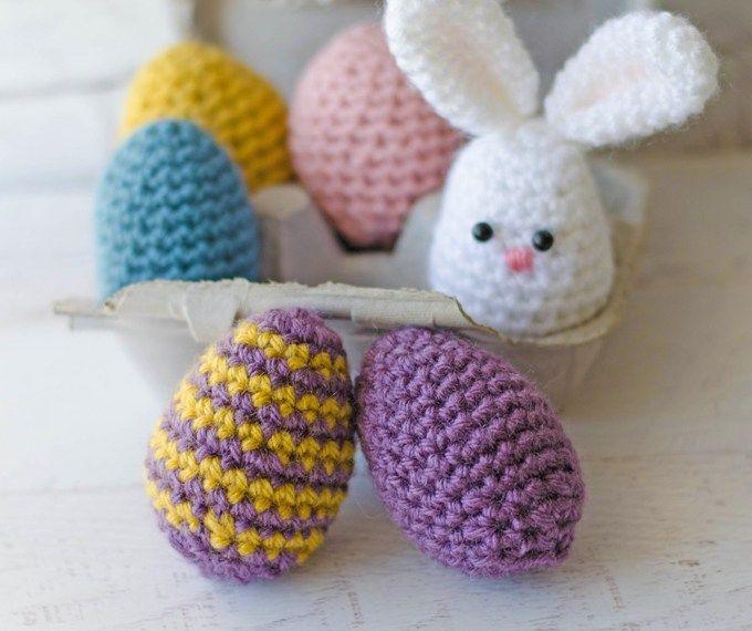 Crochet Easter Eggs Free Crochet Easter And Egg