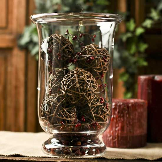 Natural Vase Fillers Natural Twig Grapevine Balls 6pcs Jars