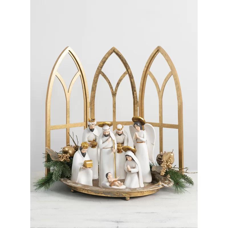 The Holiday Aisle 7 Piece Nativity Set Wayfair Christmas Nativity Set Nativity Set Nativity Scene Display
