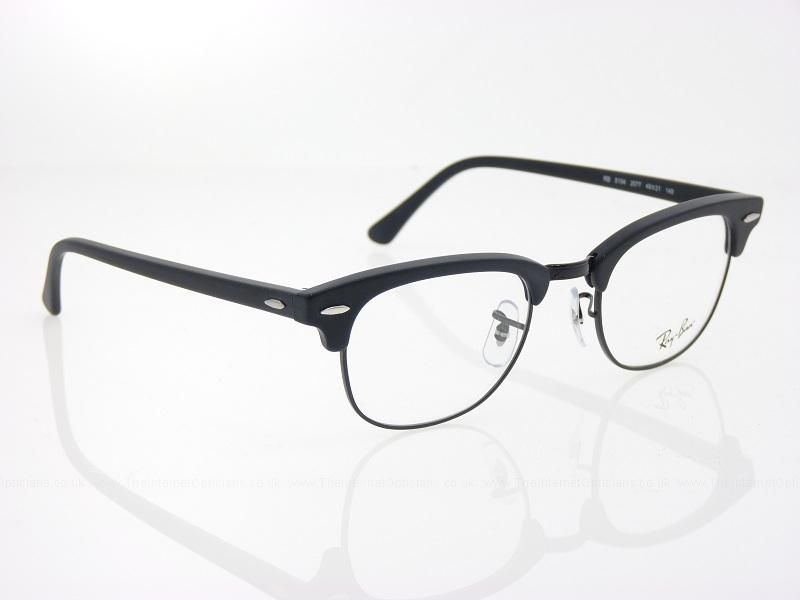 clubmaster ray ban sale  matte black glasses - Google Search