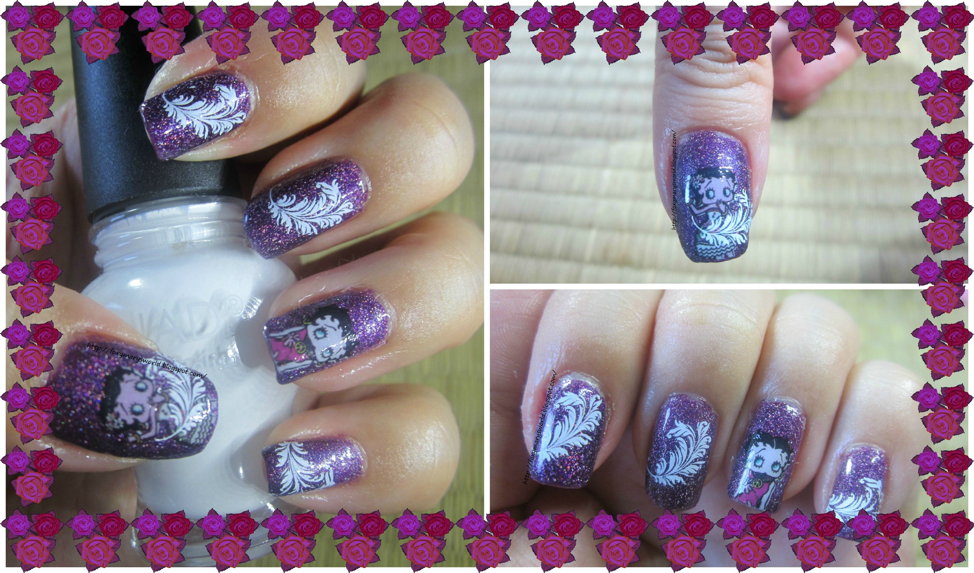 NOTD Betty Boop nails.