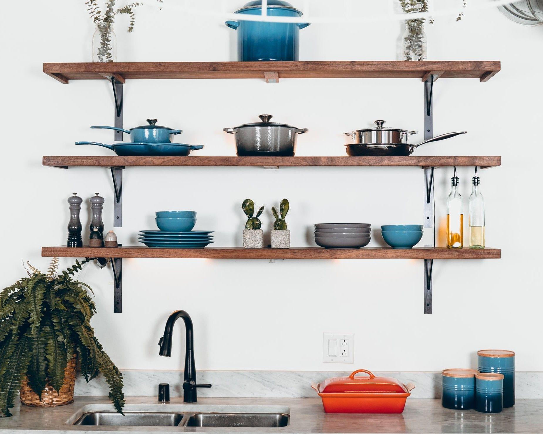 Wand Montiert Regale Küche Dekoration Idee