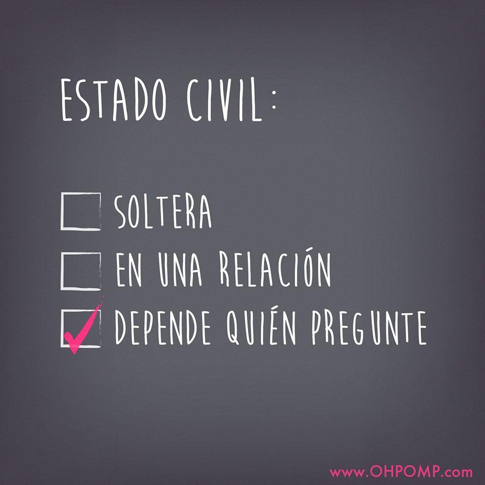 OH POMP! jeans.Estado civil, jajaja Soltera, single, Soledad Humor ...