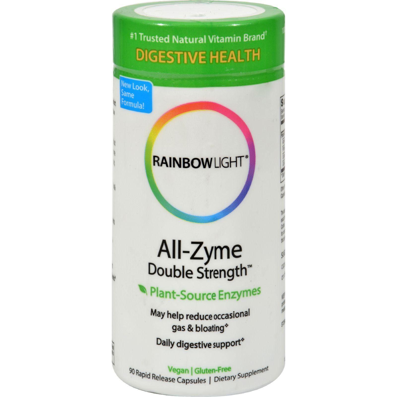 Rainbow light allzyme double strength free vegetarian