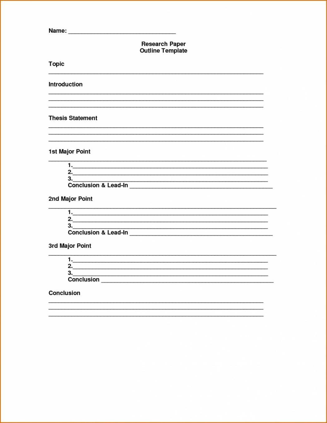 Effortless Research Paper Outline Worksheet You Never Seen