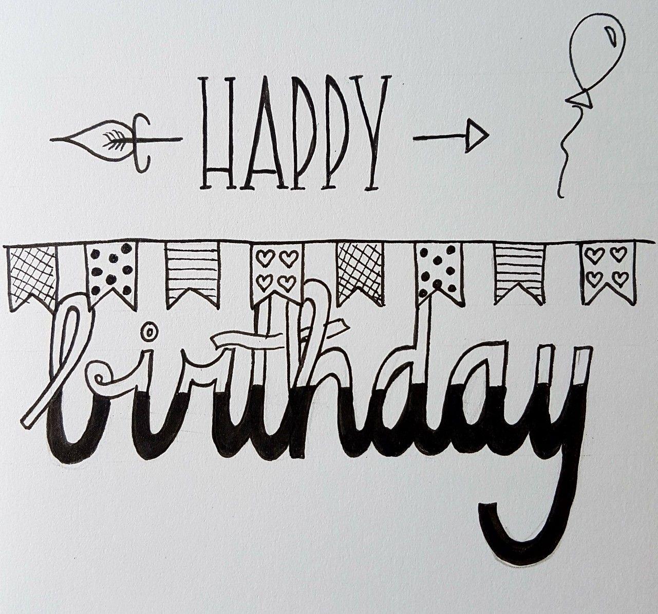 Happy Birthday Handlettering Happy Birthday Handlettering Happy Birthday Words Handlettering Happy Birthday