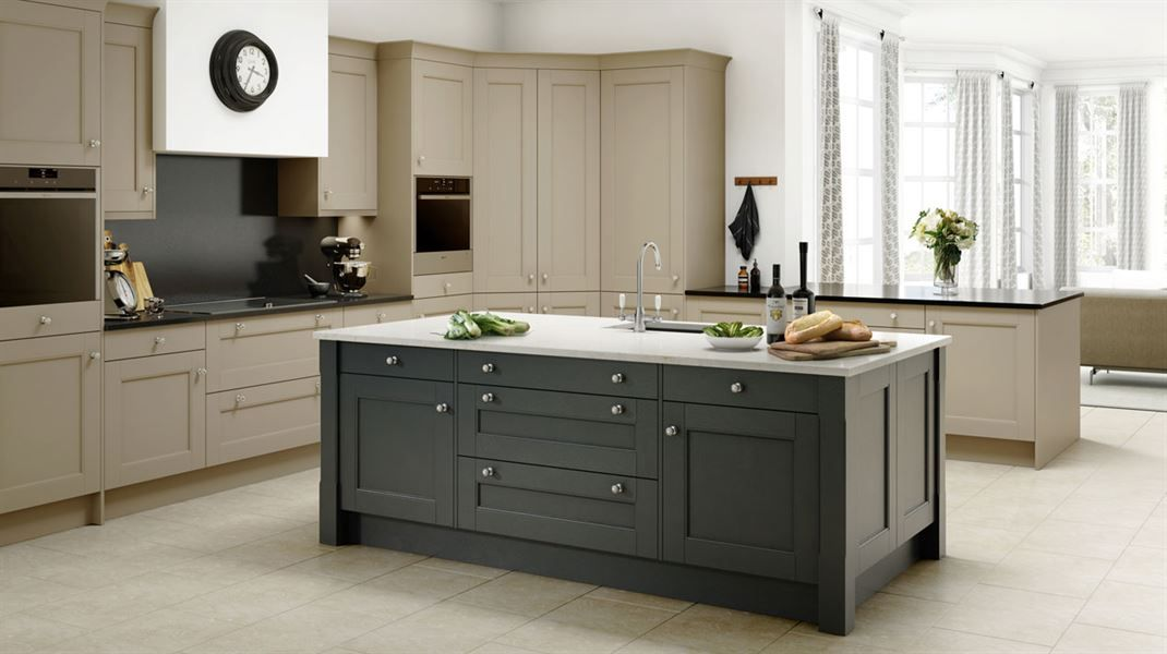 Manor House Painted Sandstone Anthracite Sheraton Traditional Inspiration Atlantis Kitchen Cabinet Styles Shaker Style Cabinets Design