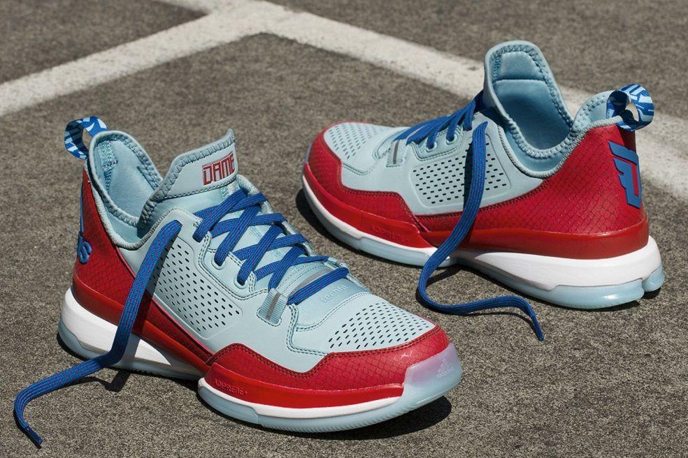 damian lillard x adidas unveil d lillard 1 oakland rebels edition - adidas damian lillard silver red