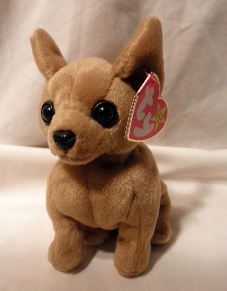 Original TY Beanie Babies Tiny the Chihuahua W tags Retired  Ty  b9c4536cd480