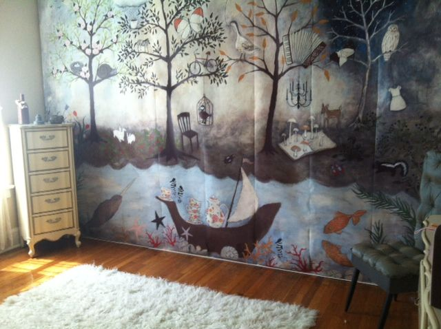 Project Nursery Enchanted Forest Anthropologie Wallpaper