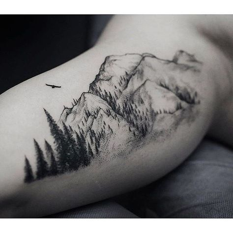 51 best Ideas for tattoo mountain tree forests tat