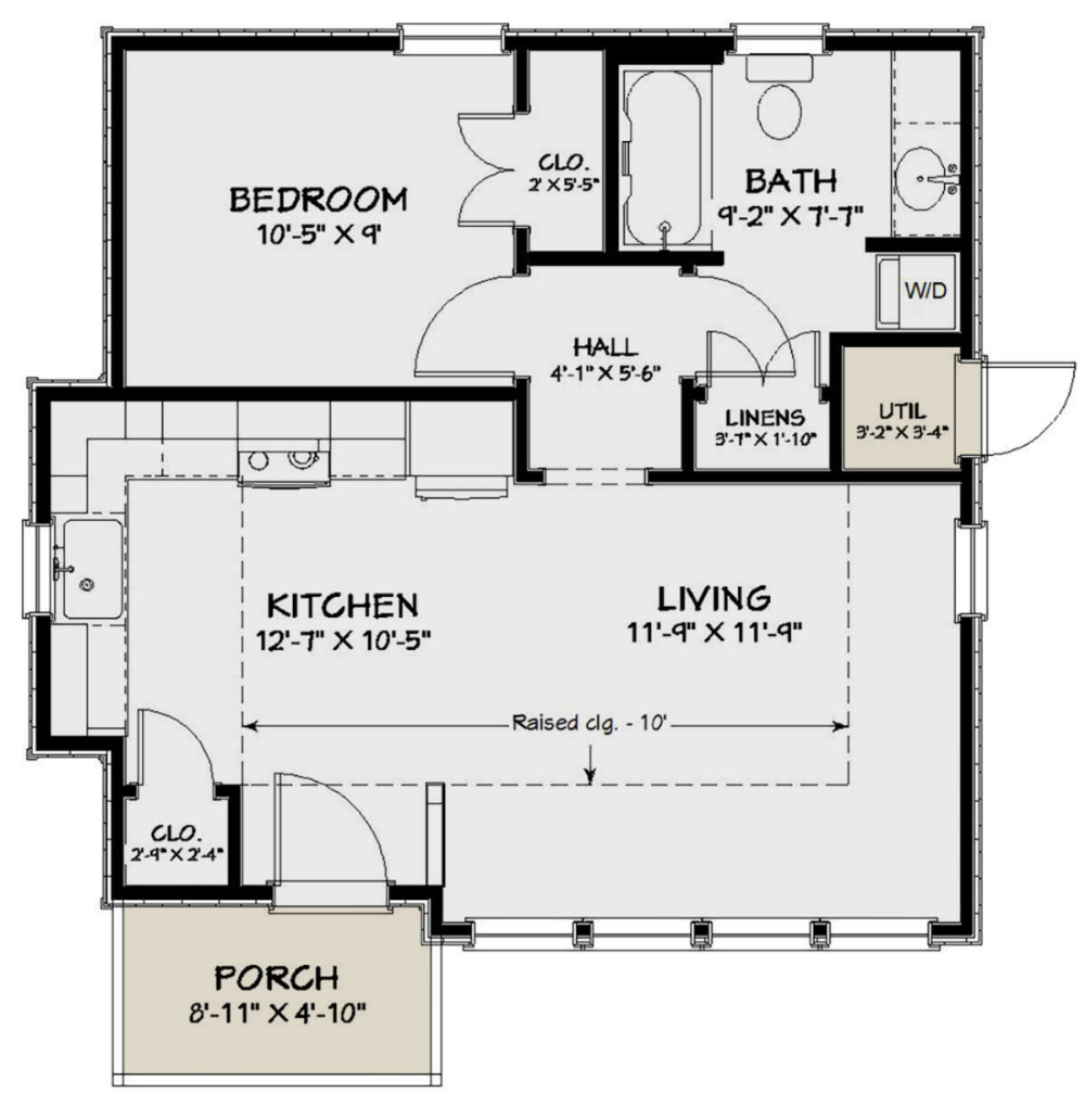 House Plan 1502 00009 Cottage Plan 551 Square Feet 1 Bedroom 1 Bathroom In 2020 Pool House Plans Guest House Plans 1 Bedroom House Plans
