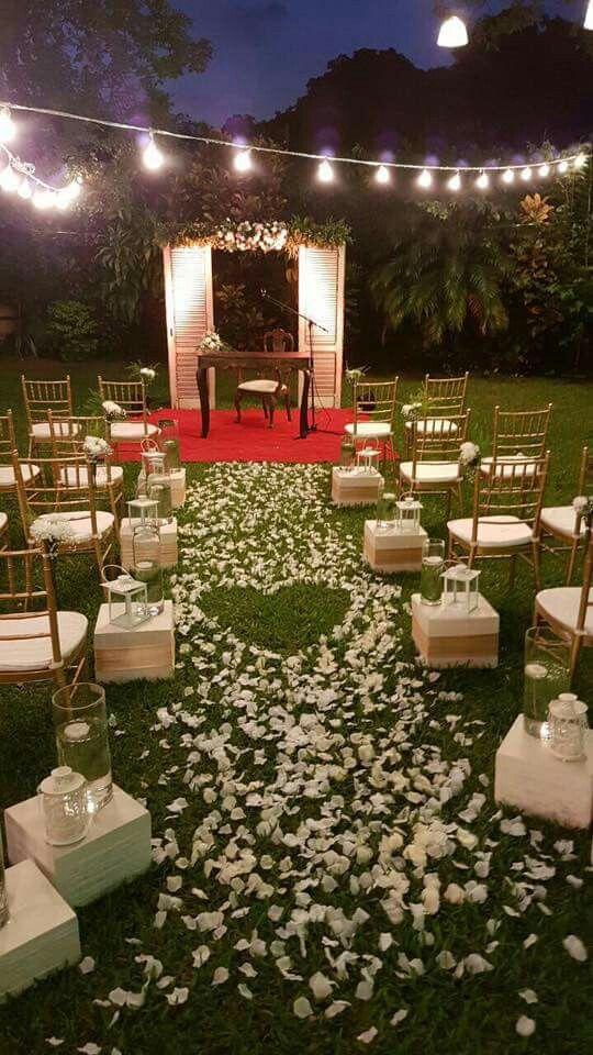 Pin de elizabeth alvarez en bodis boda boda campestres y boda civil - Decoracion boda en casa ...