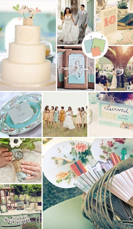 wedding global palettes pinterest | Perfect palette for a vintage wedding. | Wedding | Pinterest