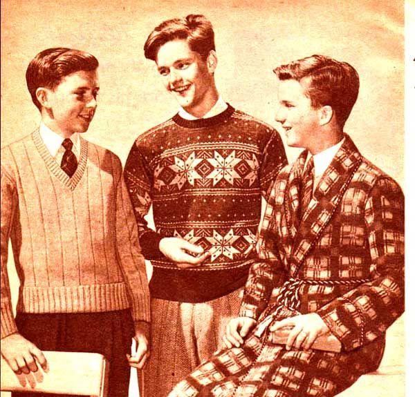 Vintage Boys Sweaters 1943 Vintageclothing 1940s