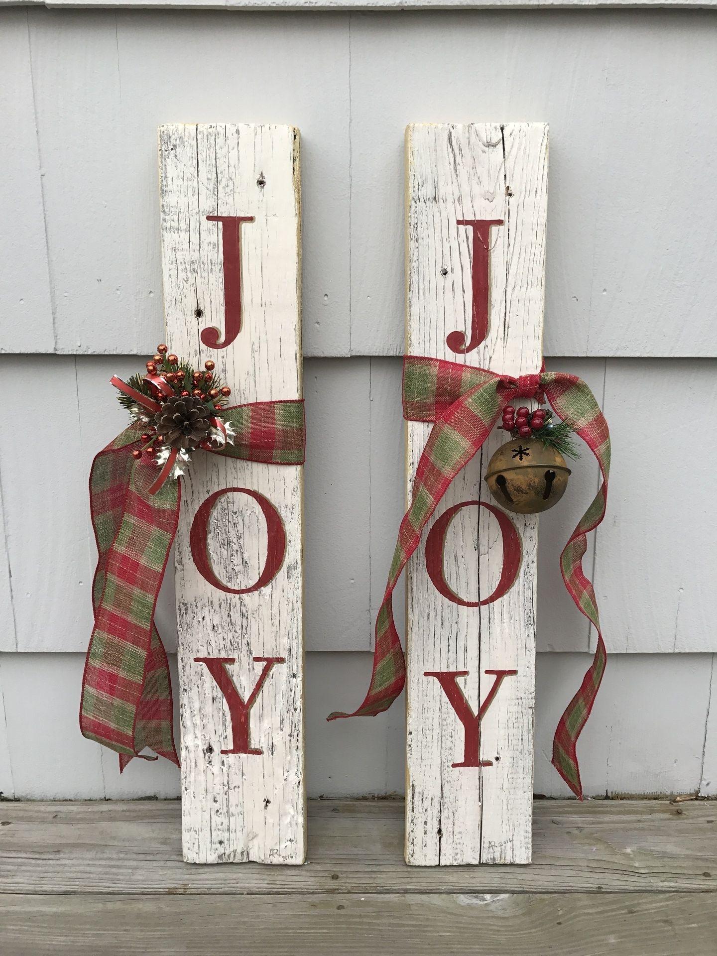 Joy Signs Frontporchchristmasdecor Joy Christmassigns