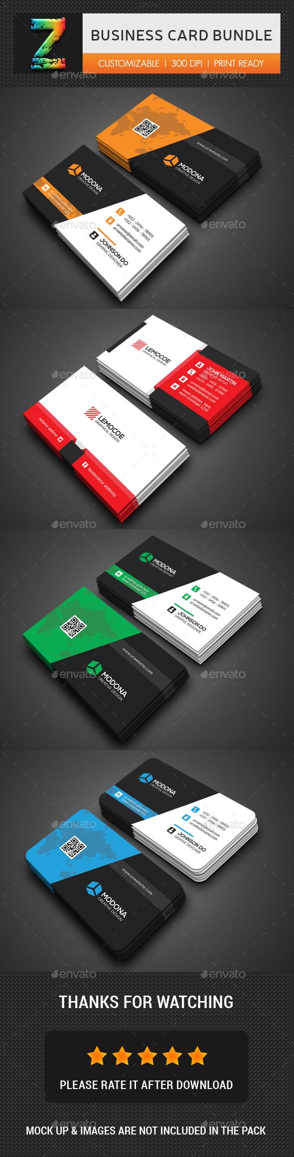 Business Card Template PSD Bundle   Business Card Templates ...