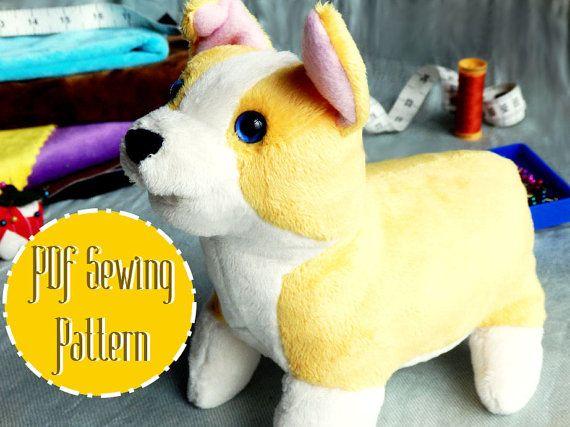 Corgi Plush plush pattern stuffed animal sewing PDF | Nähen ...