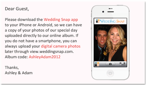 Wedding Snap App OMG Have All Your Guests Download This