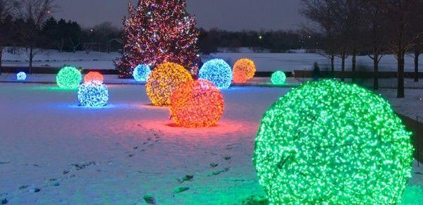 How to Make Lighted Christmas Balls Christmas lights, Holidays and