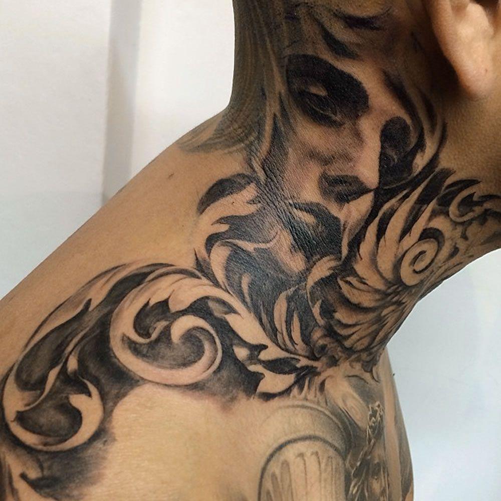 54c11dfb0 graffiti neck tattoo - Google Search | neck tattoo | Тату ...