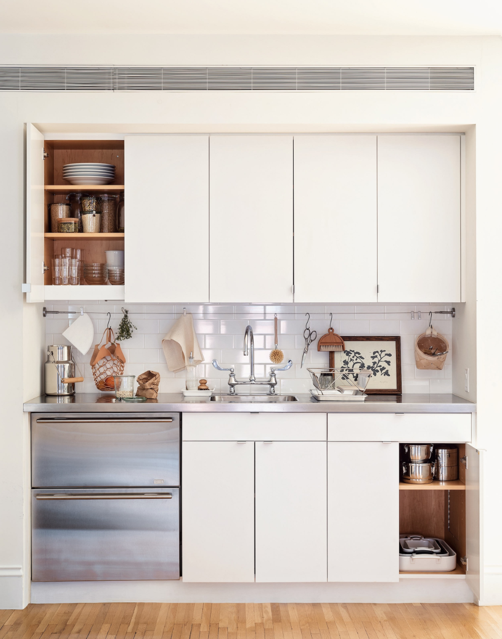 5 Space-Saving Ideas to Steal from a Brooklyn Kitchen, Ikea Hack Included
