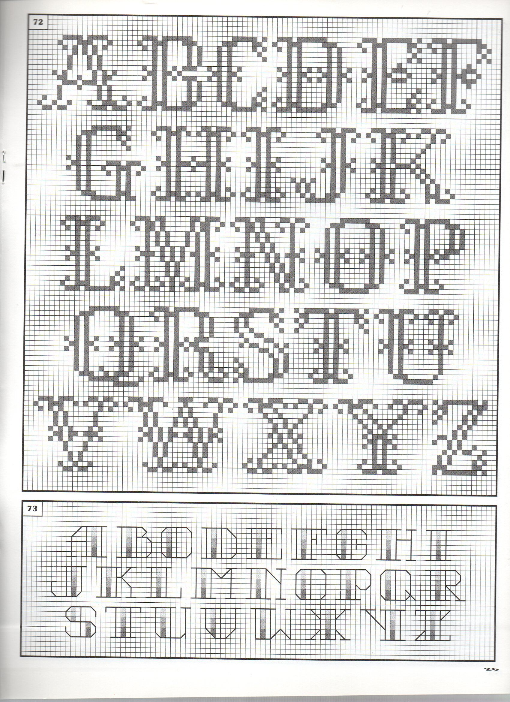 Cross Stitch Alphabet Patterns Simple Design Ideas