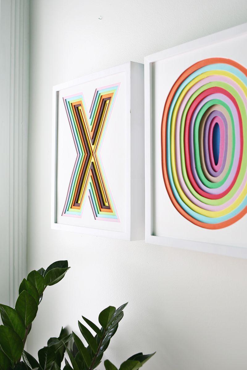Create colorful wall art using layered foam