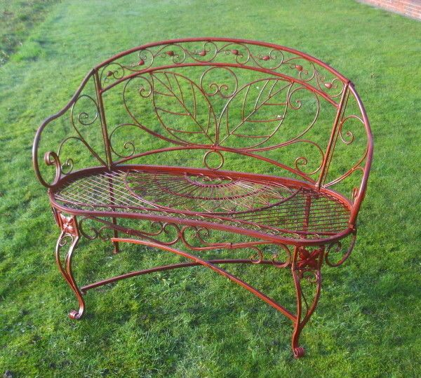 Gartenbank Antik Metall Nostalgie Landhausstil Neu Gartenmobel