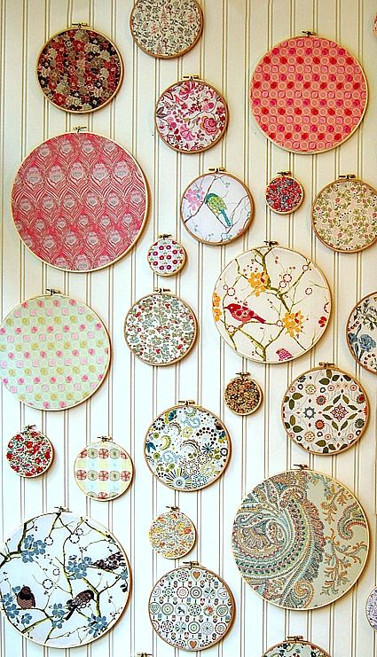 15 Fabric Projects and Tutorial Fabric decor, Diy wall