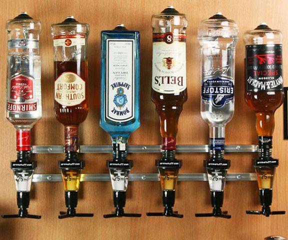 Alcohol Bar For Home: Rack And Pour Liquor Dispensers