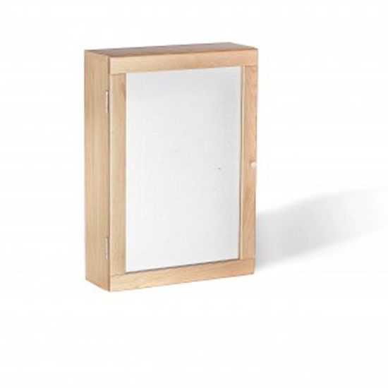 Pacific Bathroom Mirrored Wall Cabinet In Solid Oak And Mdf With 1 Door Would Make A