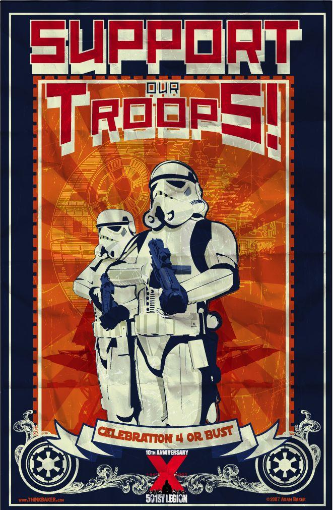 Star Wars Support the Troops Star wars art, Star wars