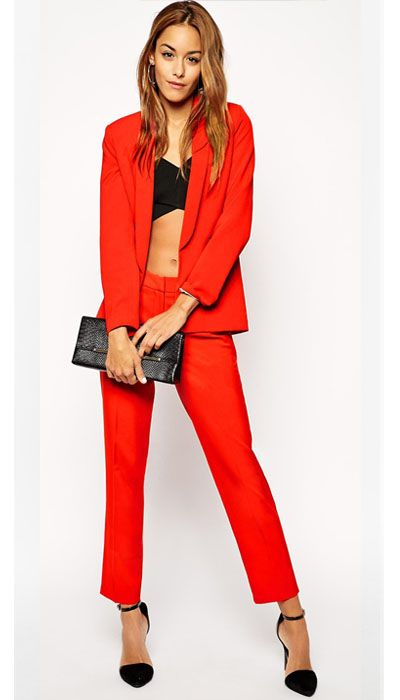 Red Suits for women | Women Brown Bespoke | Pinterest | Red suit ...