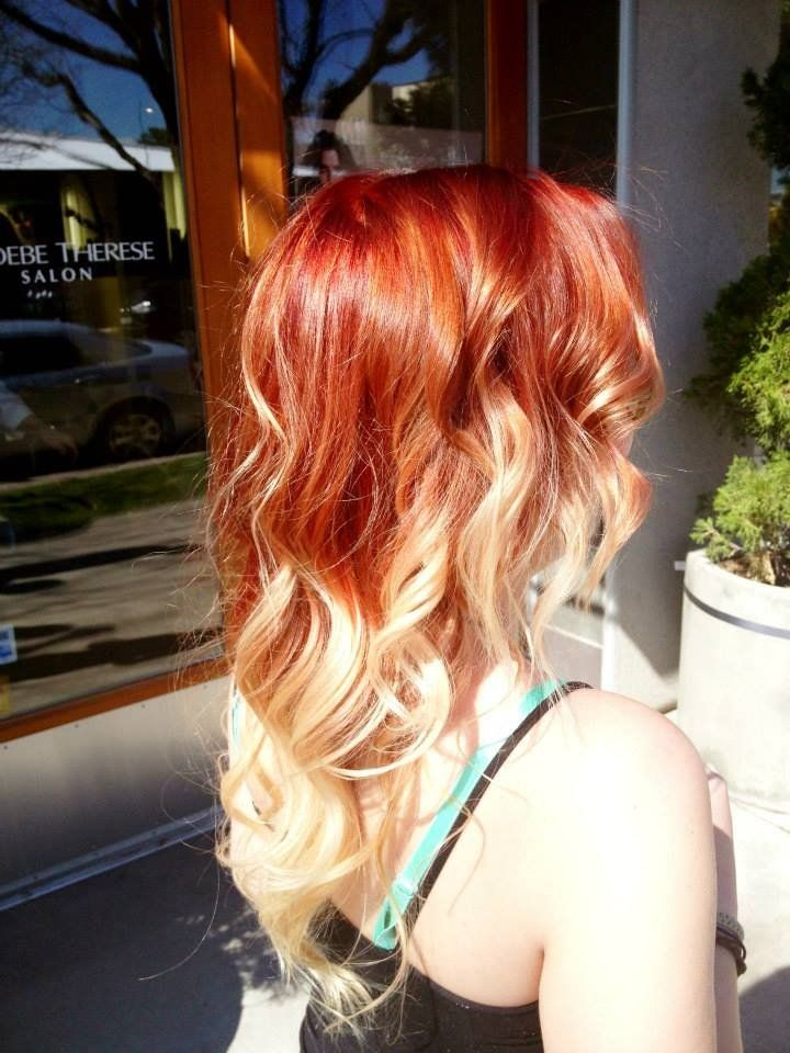 Sombre By Danni Yelp Ombre Hair Blonde Red Ombre Hair Blonde Hair With Red Tips