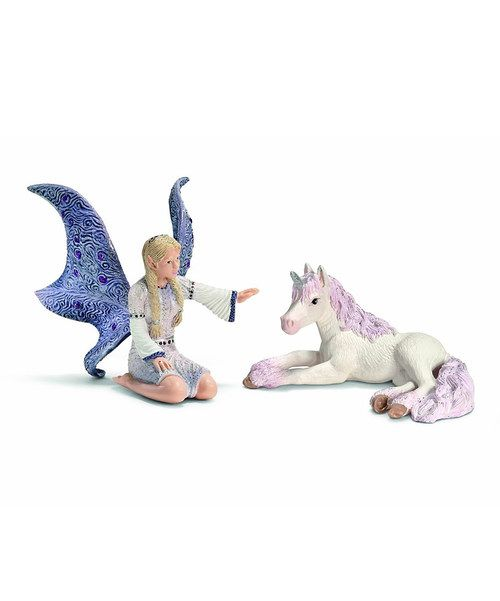 Gracee-Lindariel & Unicorn Foal Figurine Set on #zulily today!