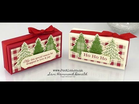 Stampin' Up! Toile Tidings Perfect Plaid Box Tutorial - YouTube