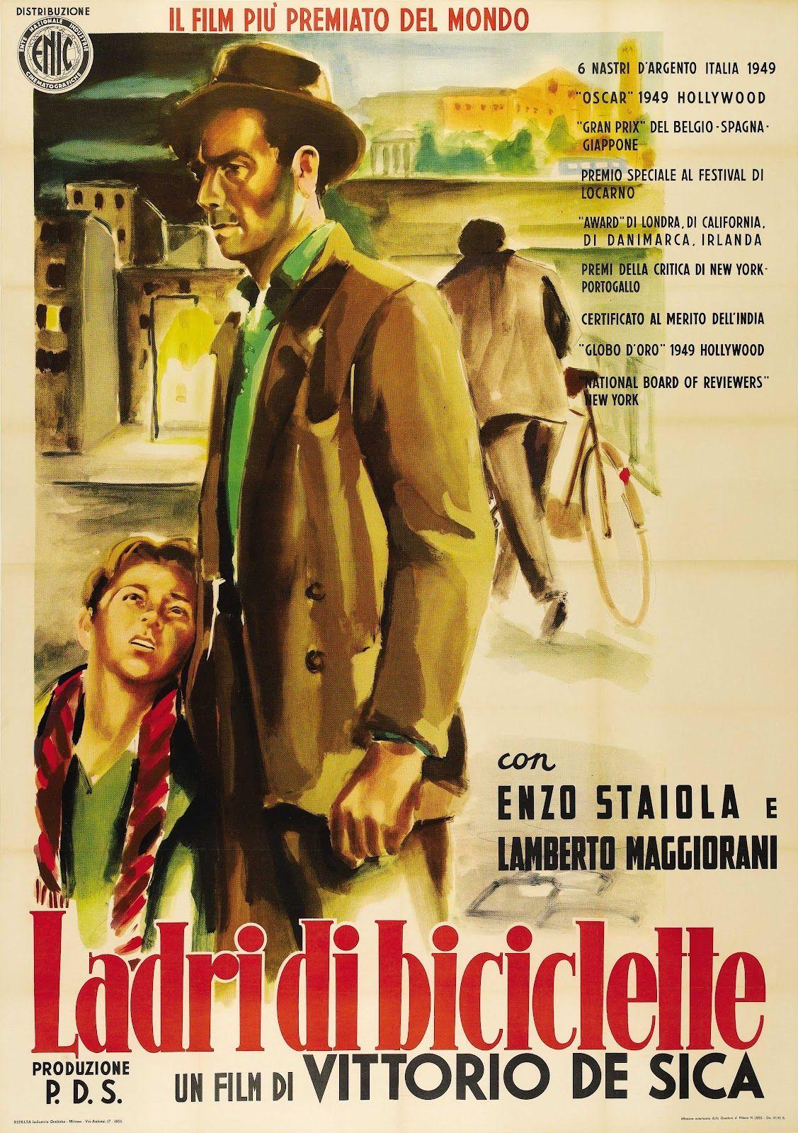 The bicycle thief Vittorio De Sica cult movie poster print 6