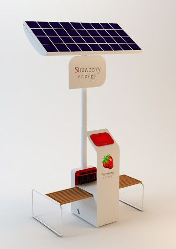 Portable Solar Charger For Mobile Devices Strawberry
