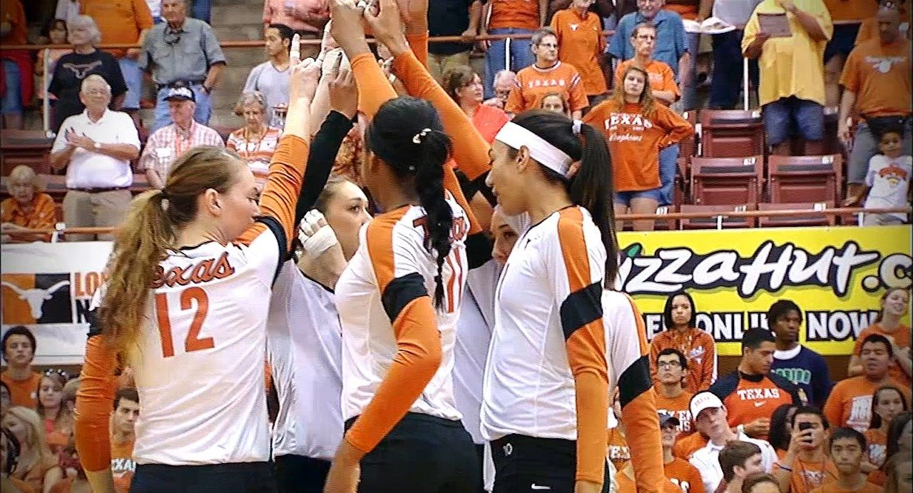 Video A Look At What You Re Missing If You Haven T Seen Texas Volleyball In Person This Season Volleyball Volleyball News Athlete