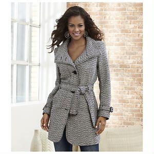 Belted Pea Coat | shoemall | free shipping!