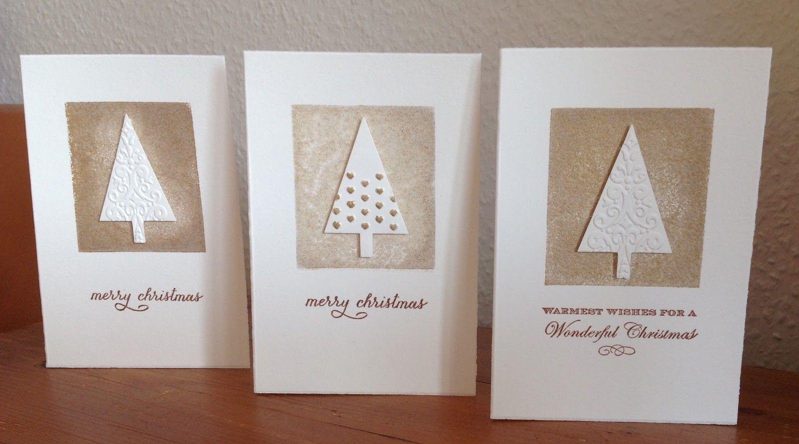 die schlichte karte weihnachtskarten mit der tannenbaum stanze von sta karten weihnachten. Black Bedroom Furniture Sets. Home Design Ideas