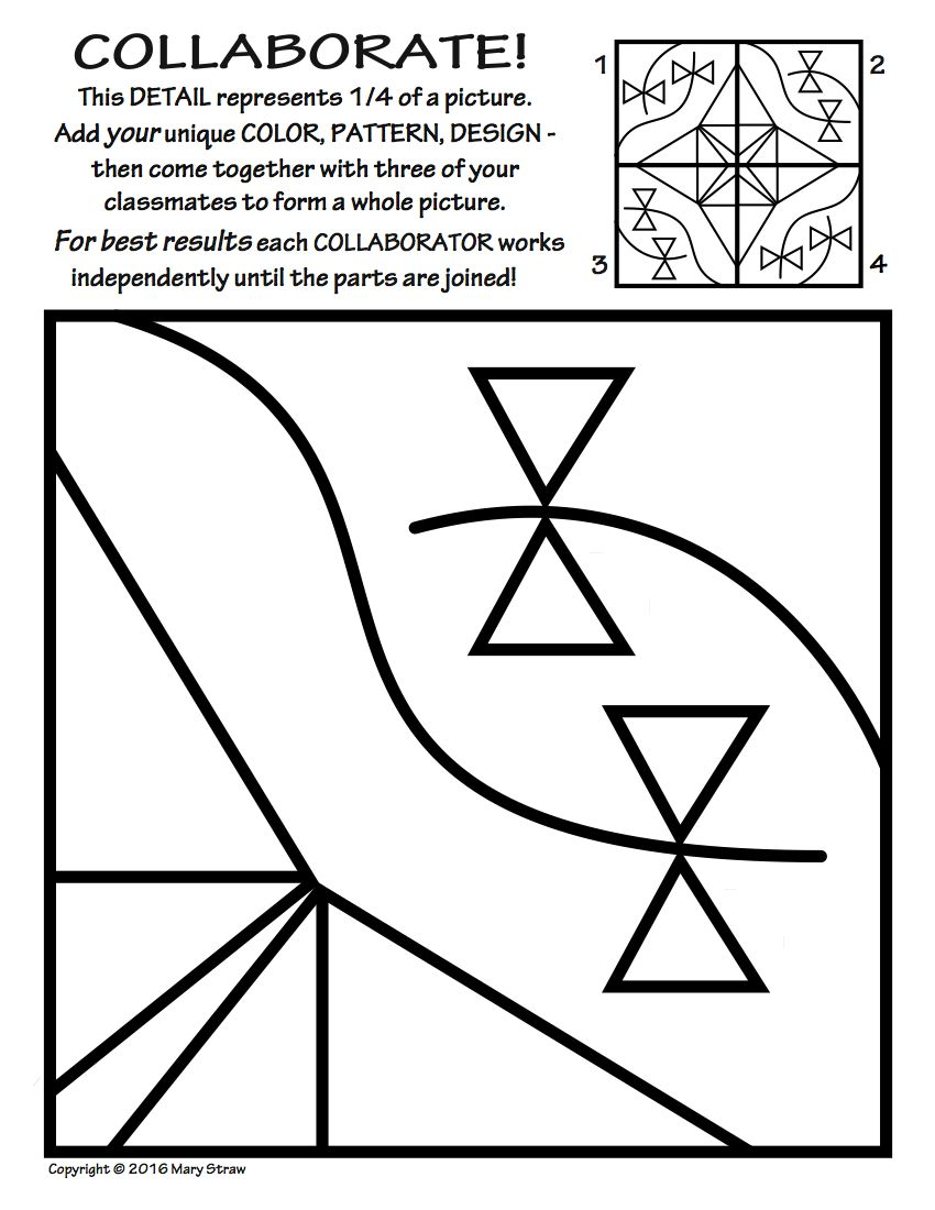 Workbooks symmetry worksheets for high school : Radial Symmetry COLLABORATIVE Activity Coloring Pages | Decorating ...
