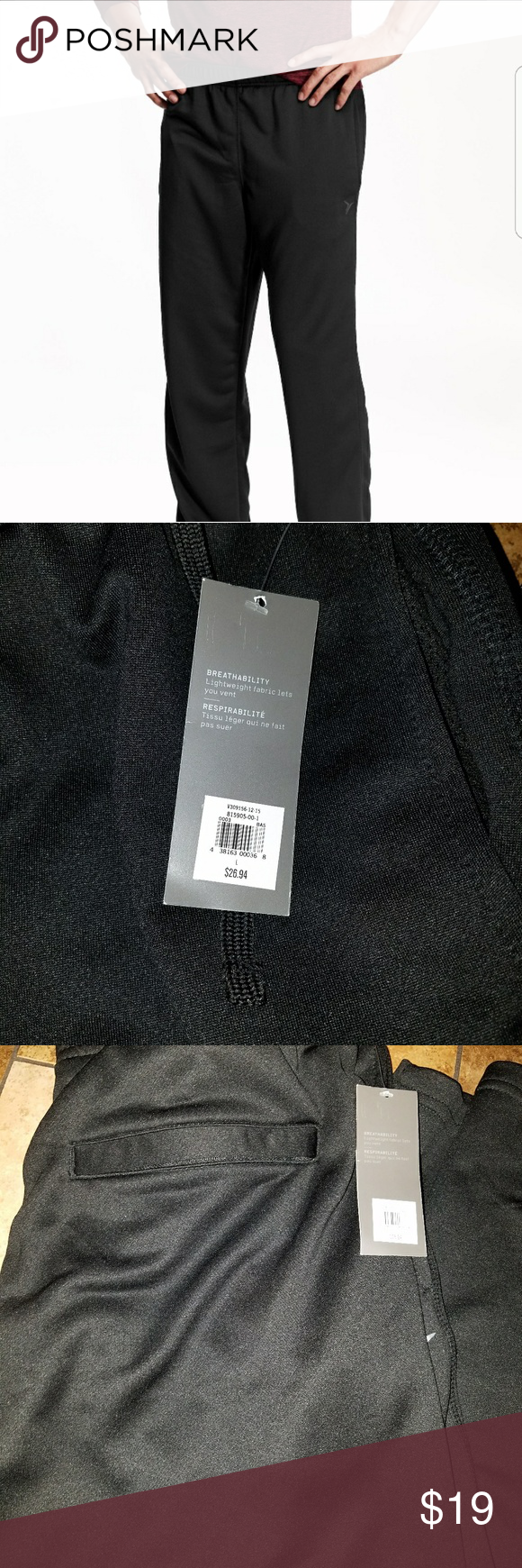 Go Dry Tech Fleece Pants for men Sits below waist