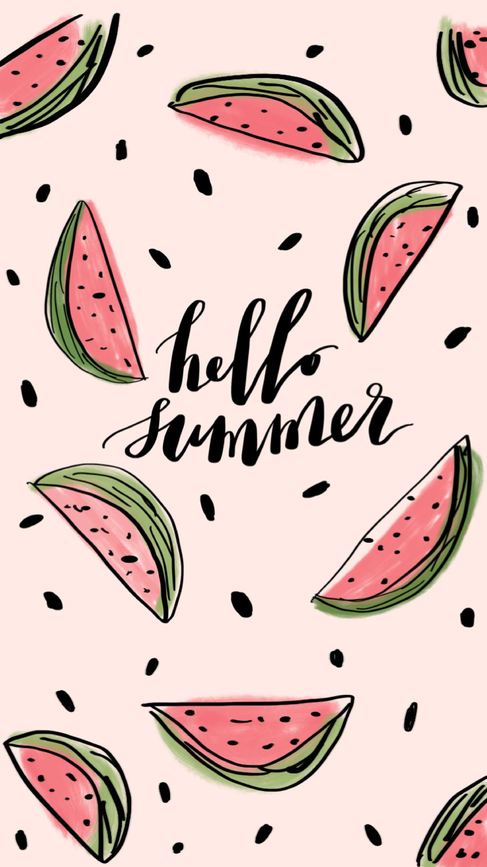 Hello Summer FREE Wallpaper Watermelon wallpaper, Cute