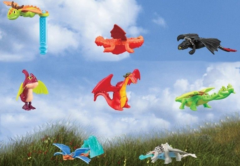 How To Train Your Dragon 2 Dreamwork Mcdonald Happy Meal Toy Full Set 8pc Unopen Happy Meal Toys How To Train Your Dragon Happy Meal Mcdonalds