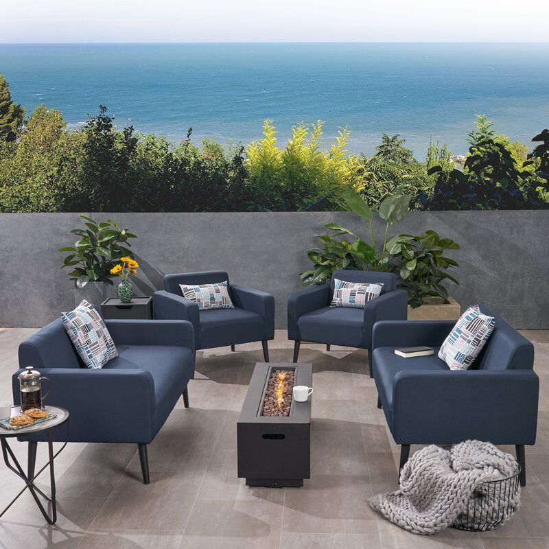 Breckenridge 6 Piece Sofa Seating Group With Cushions Outdoor Lounge Set Seating Groups Conversation Set Patio